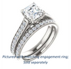 Cubic Zirconia Engagement Ring- The Jamiyah (Customizable Asscher Cut Design with Decorative Trellis Engraving and Pavé Band)