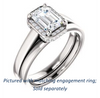 Cubic Zirconia Engagement Ring- The Juana (Customizable Cathedral-raised Emerald Cut Design with Halo Accents and Under-Halo Style)