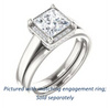 Cubic Zirconia Engagement Ring- The Juana (Customizable Cathedral-raised Princess Cut Design with Halo Accents and Under-Halo Style)