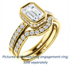 Cubic Zirconia Engagement Ring- The Monaco (Customizable Vintage Emerald Cut Design with Crown-inspired Under-halo Trellis and Pavé Band)