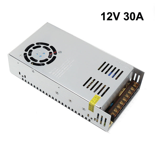 iCreating 12V 30A DC Universal Regulated Switching Power Supply 360W for CCTV, Radio, Computer Project, LED Strip Lights, 3D Printer
