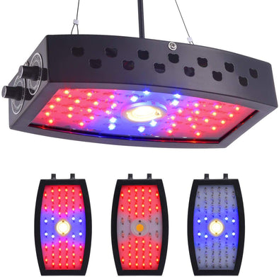 COB LED Grow Light 1000W Full Spectrum Lamp, Indoor Grow Lights for Veg and Flower Plants, Double Adjustable Knobs Plant Light for Greenhouse (Double-chip 10W LEDs)