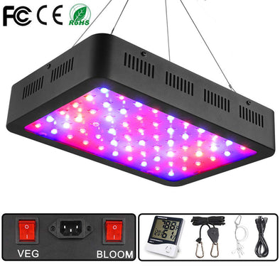 1000W LED Grow Light, Full Spectrum Plant Light with Veg and Bloom Double Switch, Adjustable Rope, Grow Lamp for Indoor Plants Veg and Flower