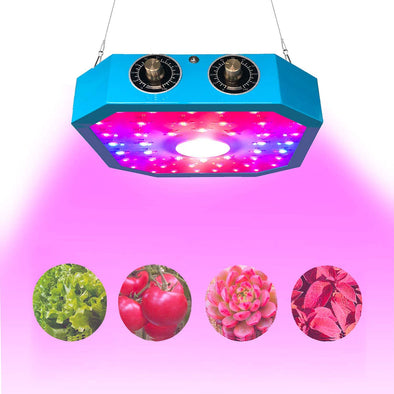 1100W COB LED Plant Grow Light, Adjustable Veg&Bloom Switch Full Spectrum LED Growing Lamps for Indoor Plants Hydroponics Greenhouse Fruits Veg and Flowers