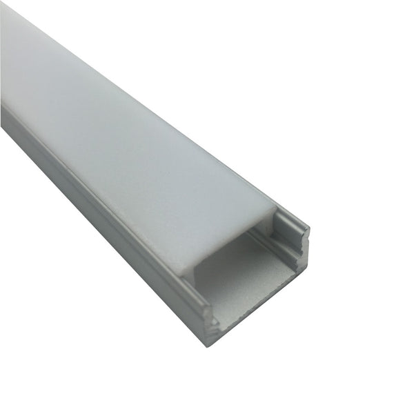 iCreating Super Slim 16.9*9mm Surface Mount Aluminum LED Mounting Channel, Compatible with PCB Width within 12mm