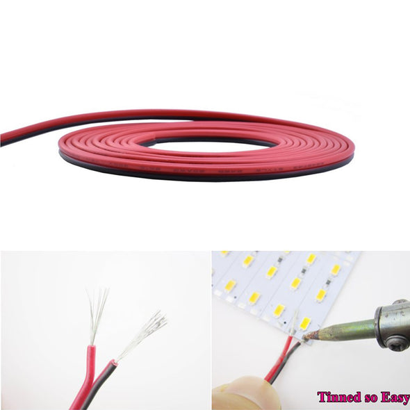 66ft Extension Cable Wire Cord Kit - Includes 66ft Extension Cable, 2X Quick Wire Connector, 2X L Shape LED Strip Connector, 2X Gapless LED Connector, 20X LED Strip Clip for 3528 2835 LED Strip Light