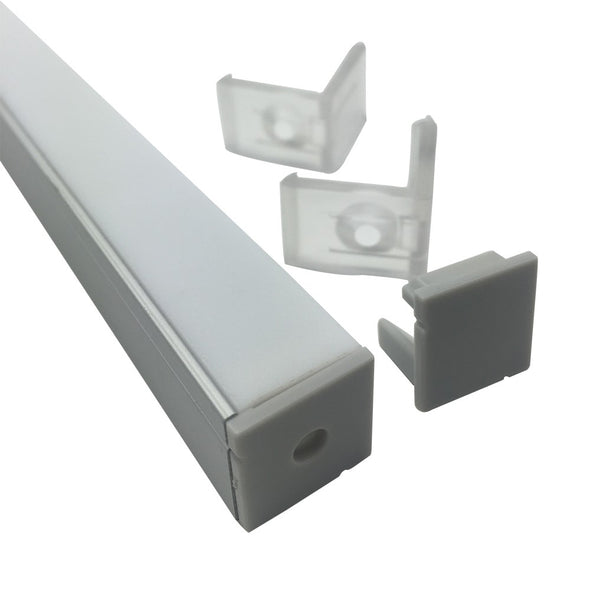 iCreating Corner Mount LED Aluminum Profile LED Tape Channel with 90 Degree Vertical Angle Lens, Compatible with PCB Width within 12mm