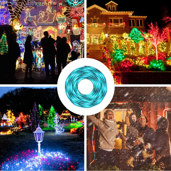RGB LED Strip Light Kit with 2X 6.6FT SMD 5050 Color Changing LED Tape Light Flexible IP65 Waterproof, Multicolor RF Remote Controller, USB Adapter, 2 Way RGB Splitter Cable