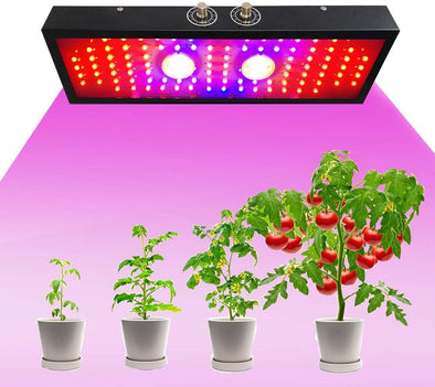 2000W LED Grow Light, Adjustable Full Spectrum Plant Light Growing Lamps for Indoor Plant with Bloom and Veg