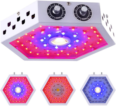 LED Plant Grow Light 1000W Adjustable Knobs Full Spectrum Panel Growing Lamp Suitable for Greenhouse Seedling Veg and Flower