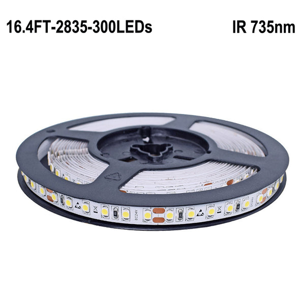 Red 735nm Flexible LED Strip Lights DC 12V SMD2835 60 LEDs Per Meter 5M(16.4FT) by iCreating 2020 New Design