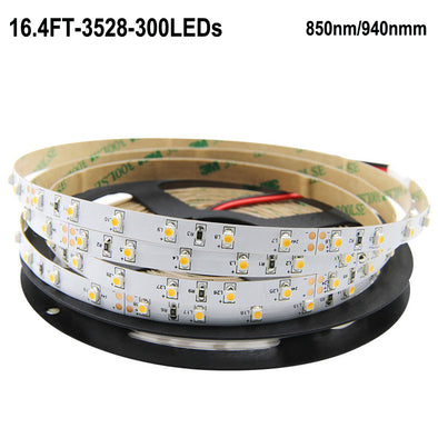 IR InfraRed 850nm/940nm 12V SMD3528 Flexible LED Strip Lights 60 LEDs Per Meter 5M(16.4ft) by iCreating 2020 New Design