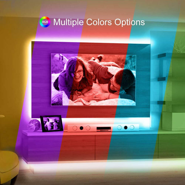 RGB LED Strip Lights Battery Operated, Color Changing LED Light Strip Rope Light Waterproof LED Tape Lights Kit with Remote for Party Room