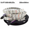IR InfraRed 850nm/940nm DC 12V SMD5050 Double Row Flexible LED Strip Lights 120LEDs Per Meter 5M(16.4FT) by iCreating 2020 New Design