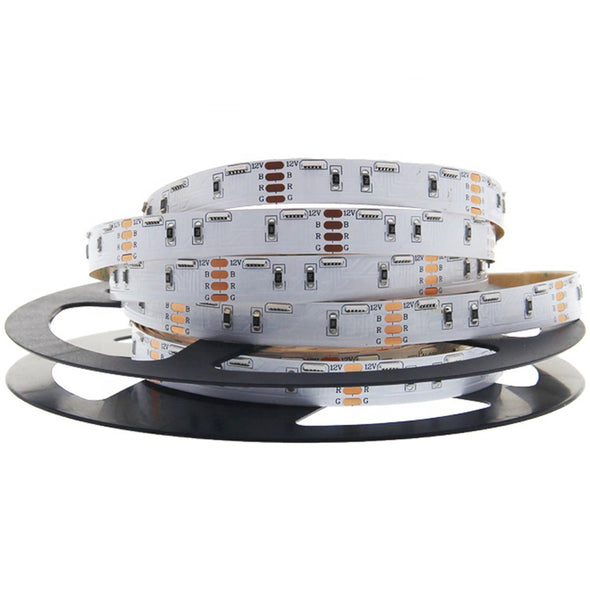 DC 12V 16.4FT 5M SMD020 Side Emitting RGB Color Changing Flexible LED Strip Lights 60 LEDs Per Meter