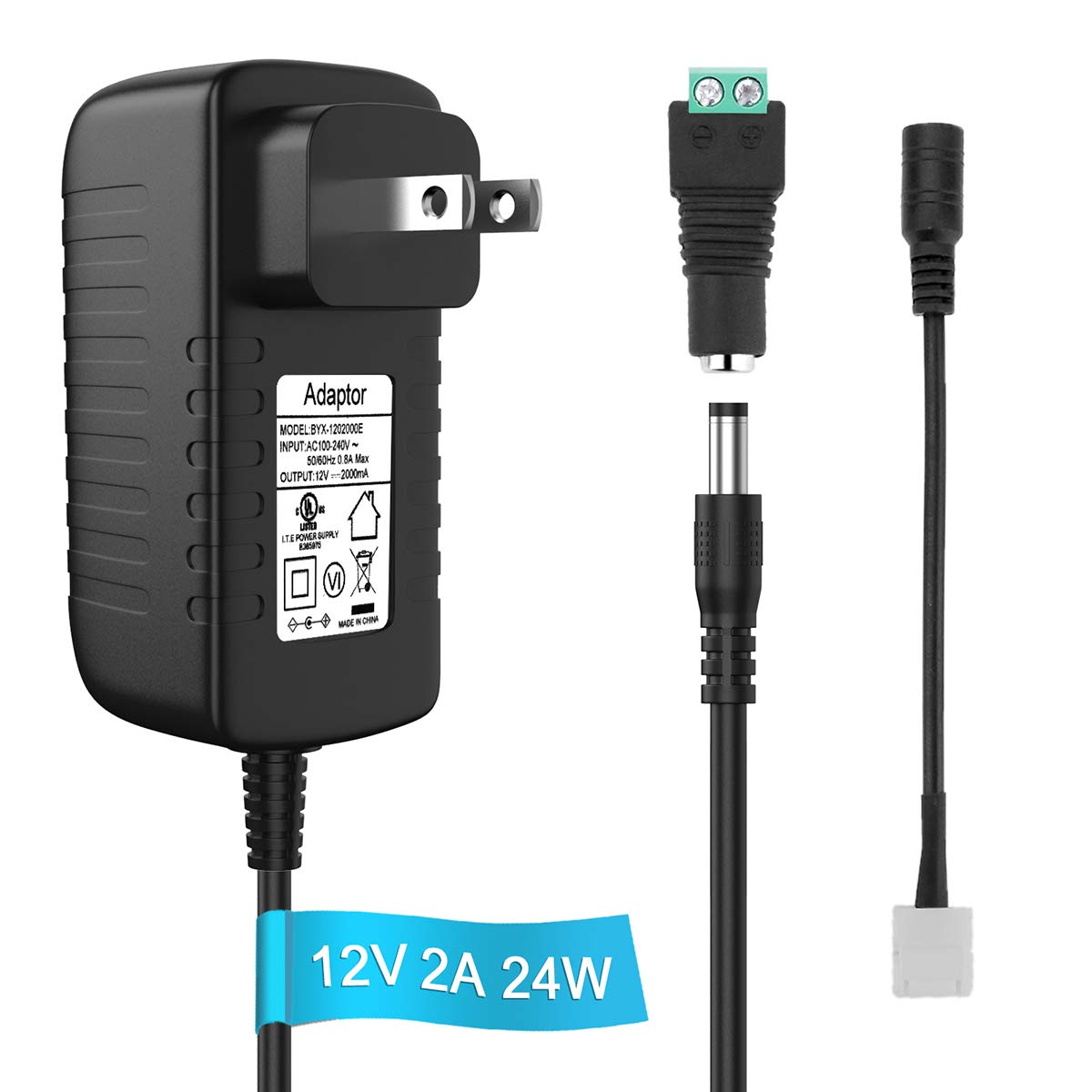 12V 2A Power Supply AC To DC Adapter Plug Converter Charger fit CCTV Camera 93cm