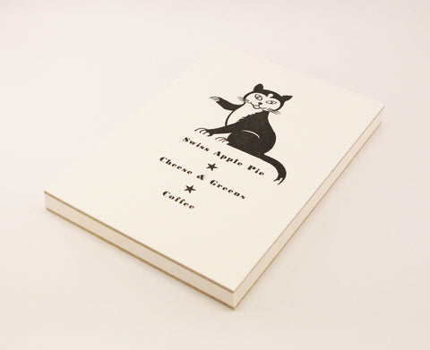 A5 Journal with Letterpress 70s Cat Menu