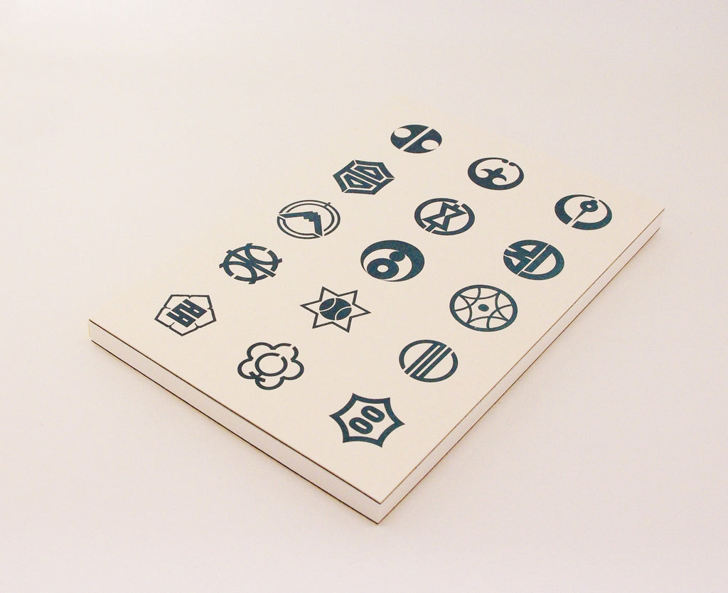 A5 Journal with Letterpress Japanese Town Symbols