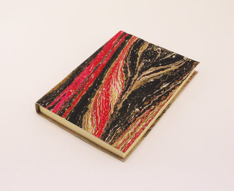 A6 Marbled Limp Leather Journal