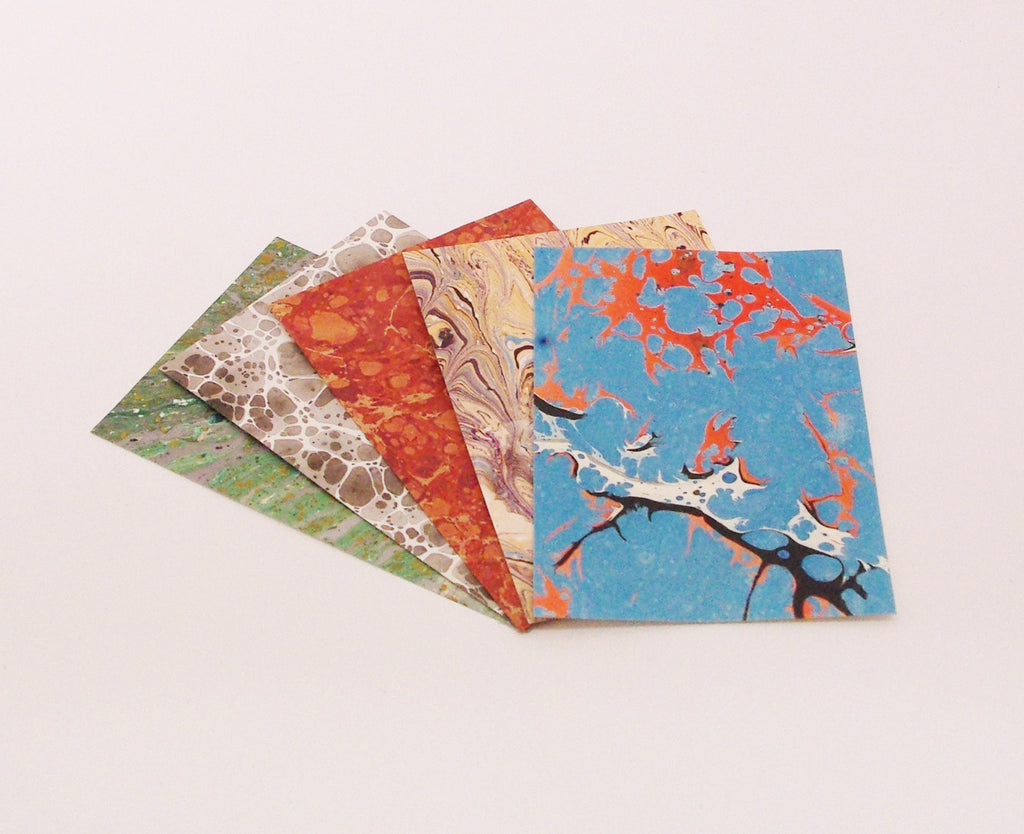 A2 Packs of Marbled Paper