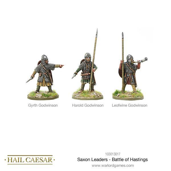 Hail Caesar Saxon Leaders Battle of Hastings Blister