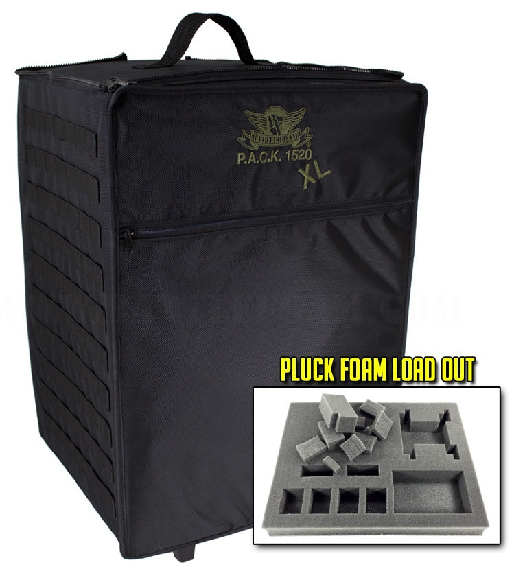 P.A.C.K. 1520XL Molle Pluck Foam Load Out (Black) | Mythicos