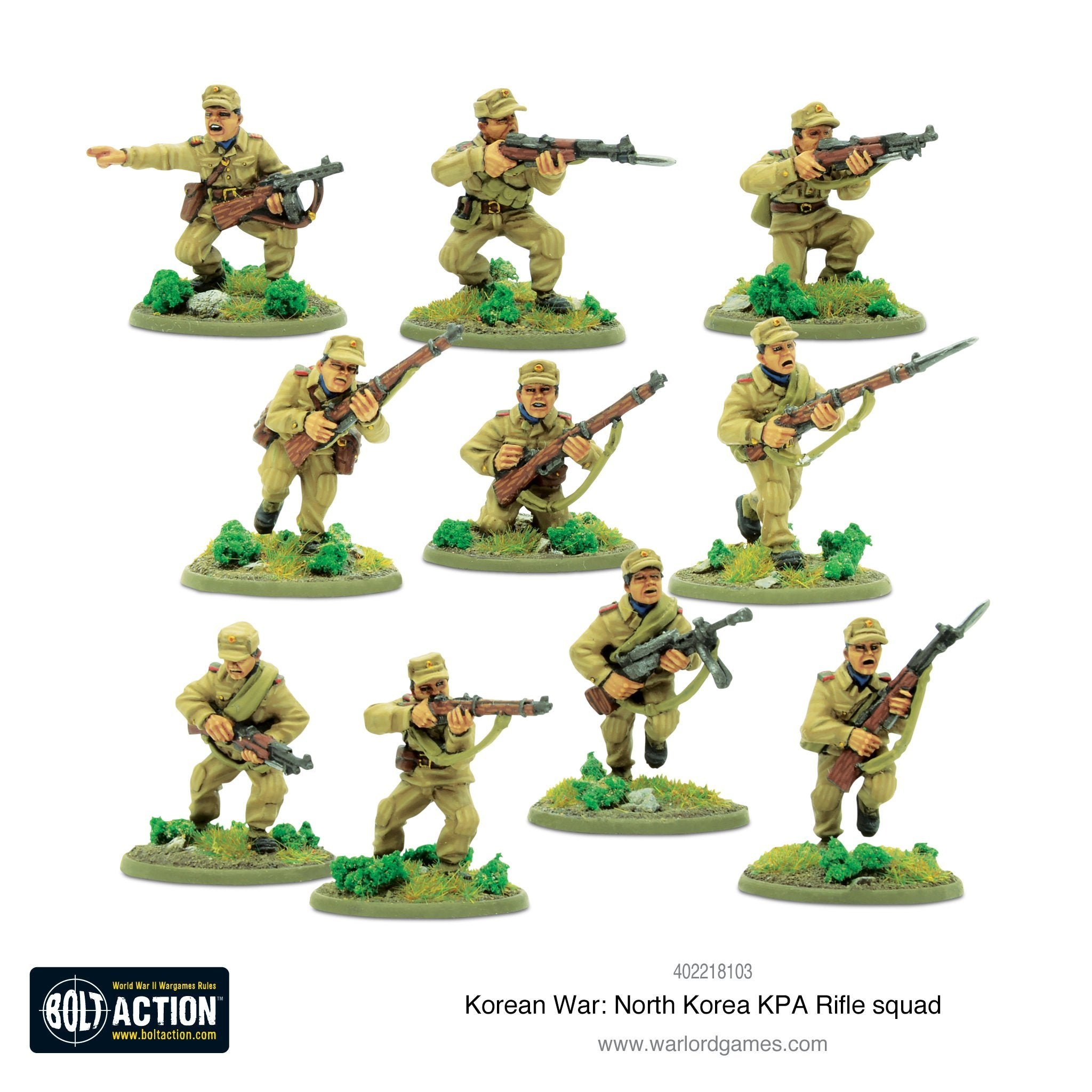 Korean War: North Korean KPA Rifle Squad | Cascade Games | New Zealand