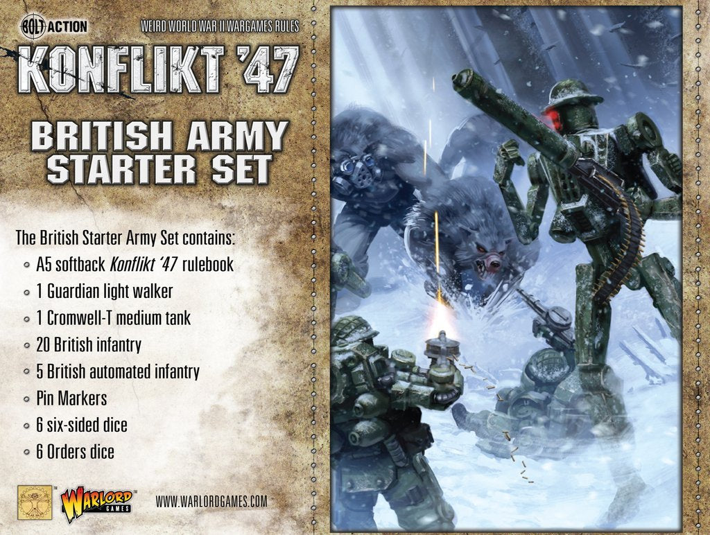Konflikt 47' British Army Starter Set | Mythicos