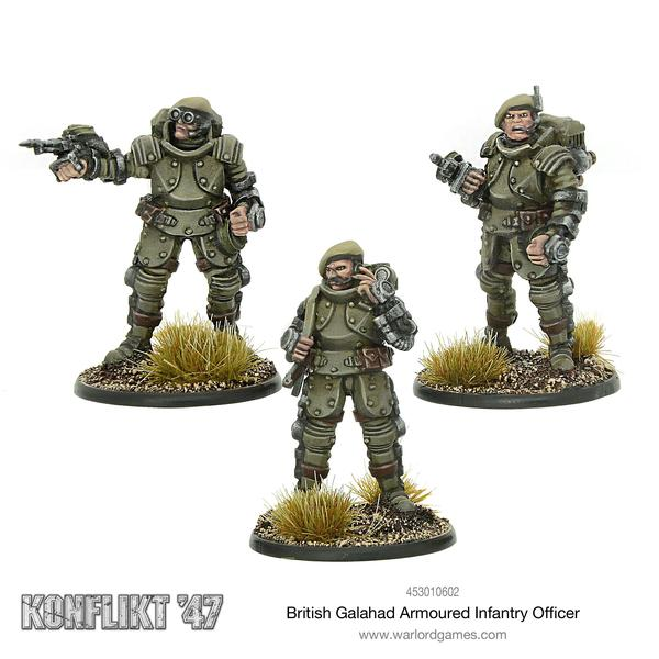 British Galahad Armored Infantry Officer | Mythicos