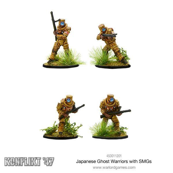 Japanese Ghost Warriors with SMG | Mythicos
