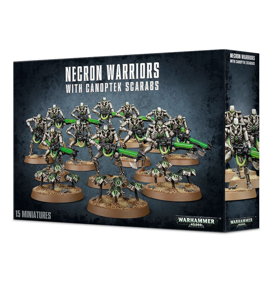 Necron Warriors with Canoptek Scarabs | Mythicos