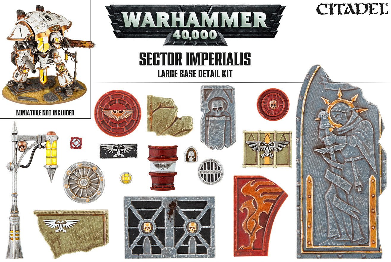 Sector Imperialis Large Base Detail Kit | Mythicos
