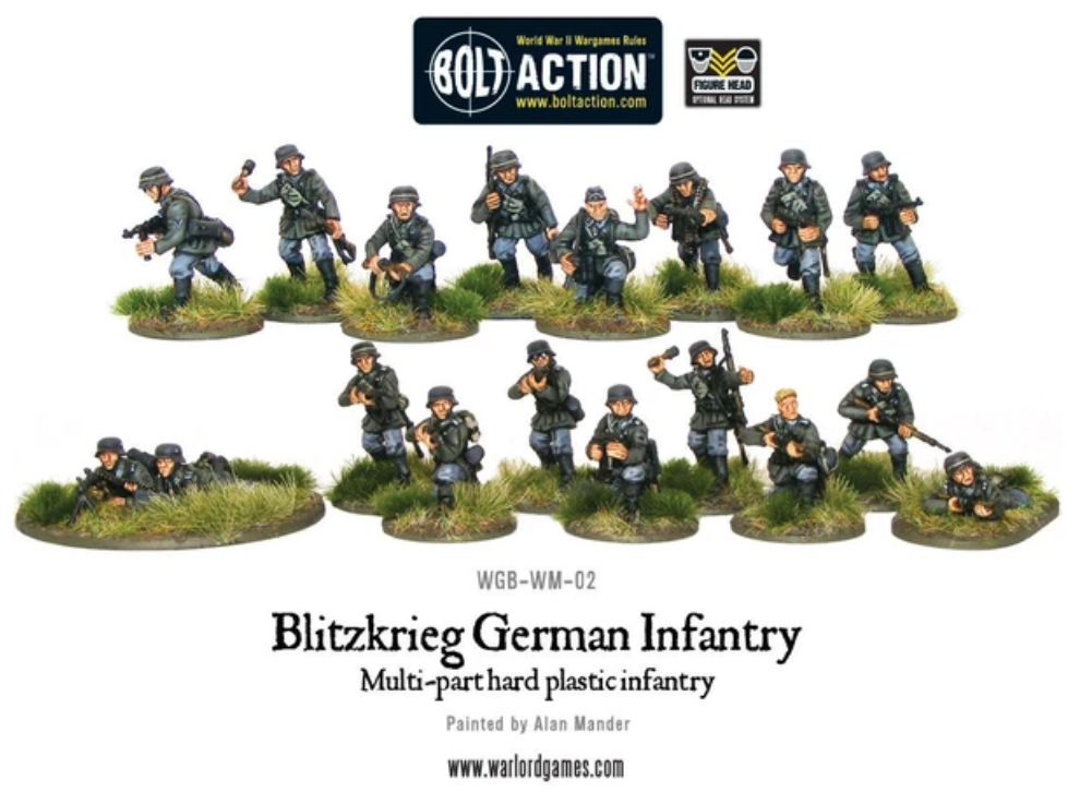 Blitzkrieg German Infantry plastic boxed set | Mythicos
