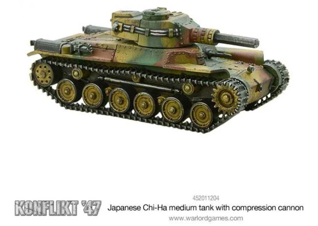 Japanese Chi-Ha medium tank with compression turret | Mythicos