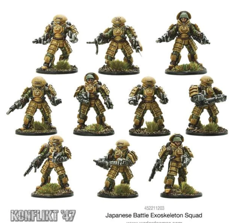 Japanese Battle Exoskeleton Squad | Mythicos