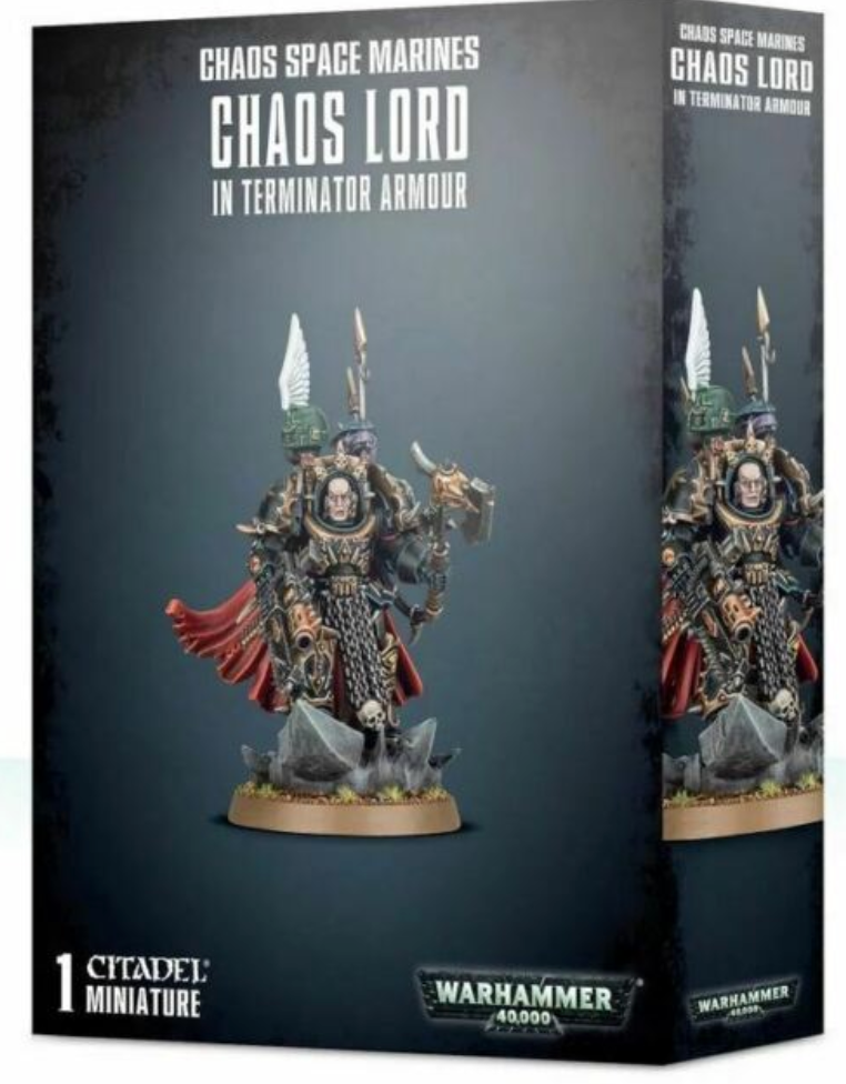 Chaos Space marines Chaos Lord in Terminator Armour | Mythicos