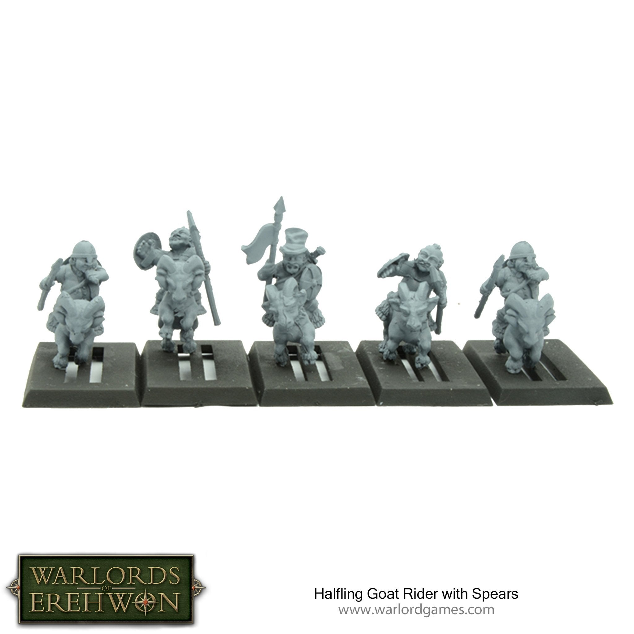 Halfling Goat Rider with Spears | Mythicos