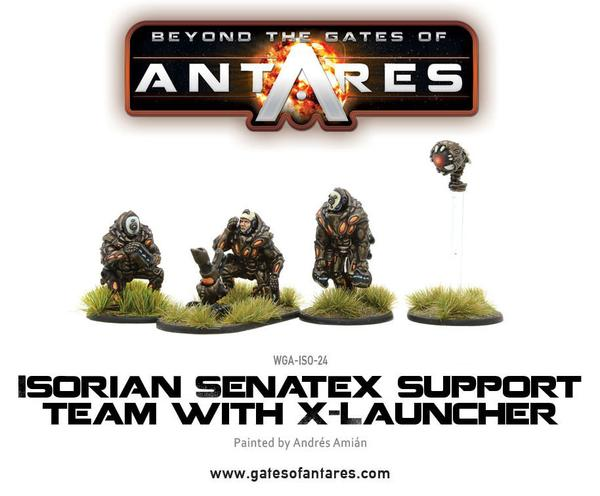 Isorian Senatex support team with X-Launcher | Mythicos