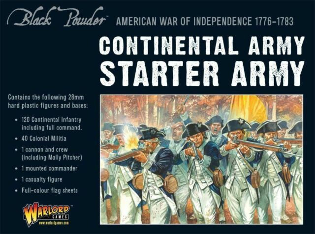 American War of Independence Continental Army Starter Army (Black Powder) | Mythicos