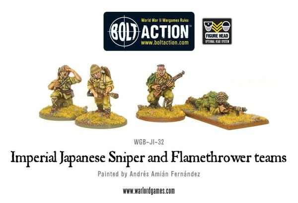 Imperial Japanese Sniper and Flamethrower teams | Mythicos