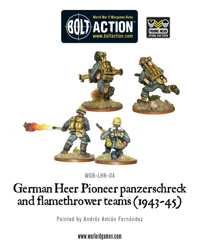 German Heer Pioneer panzerschreck and flamethrower teams (1943-45) | Mythicos