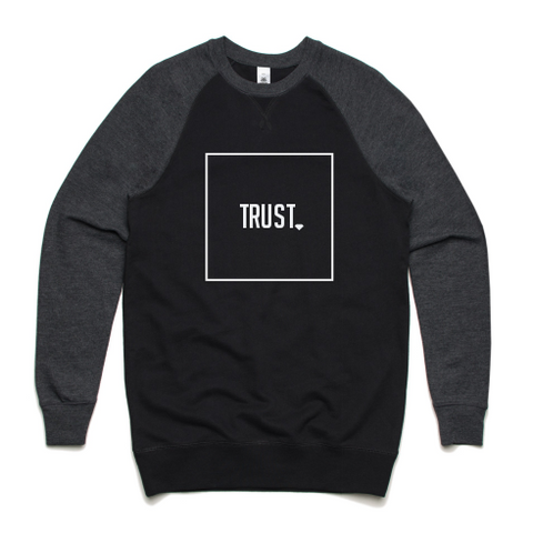 Trust Sweater Box Logo Outline