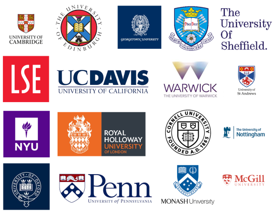 Logos of top universities including Oxford and Cambridge