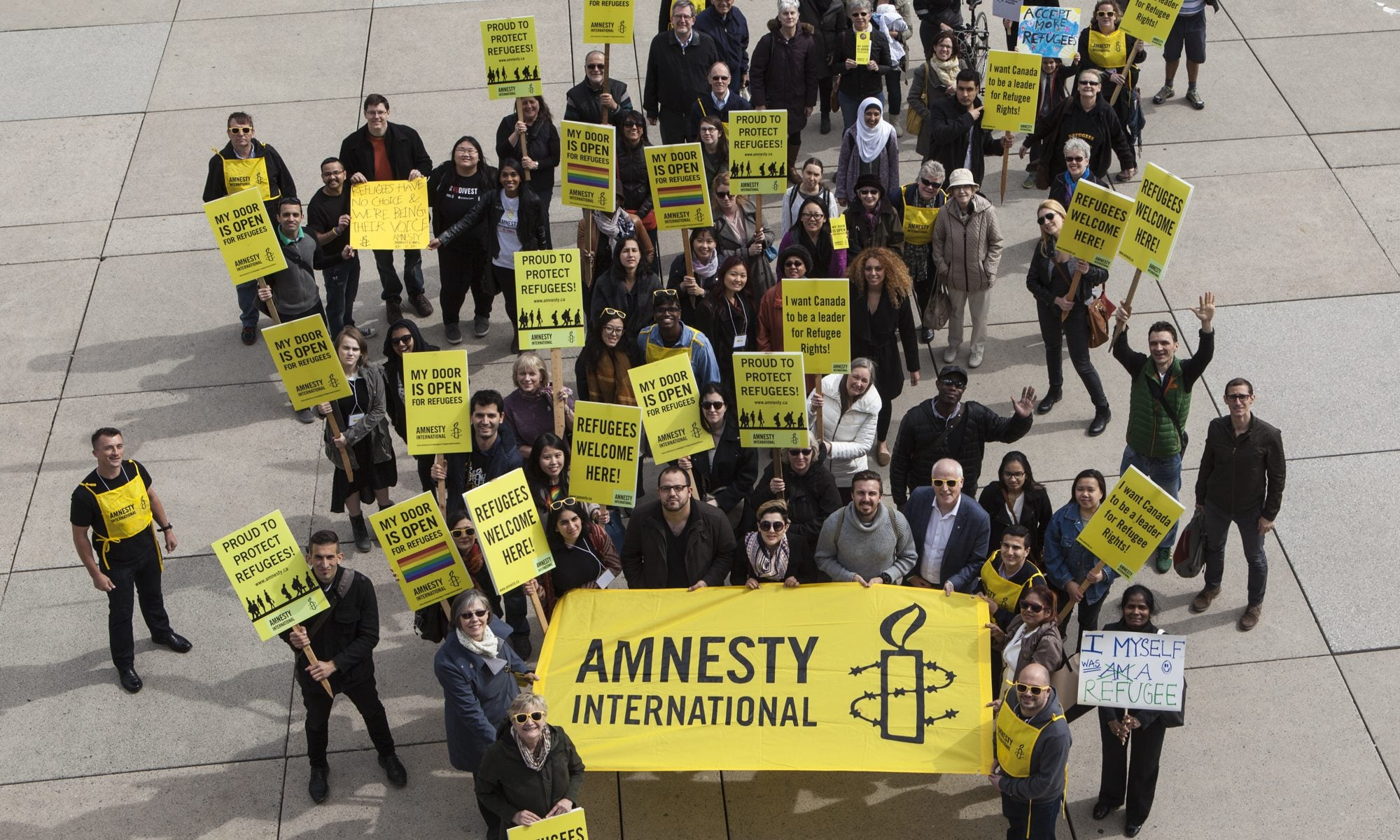 Amnesty International volunteers and employees