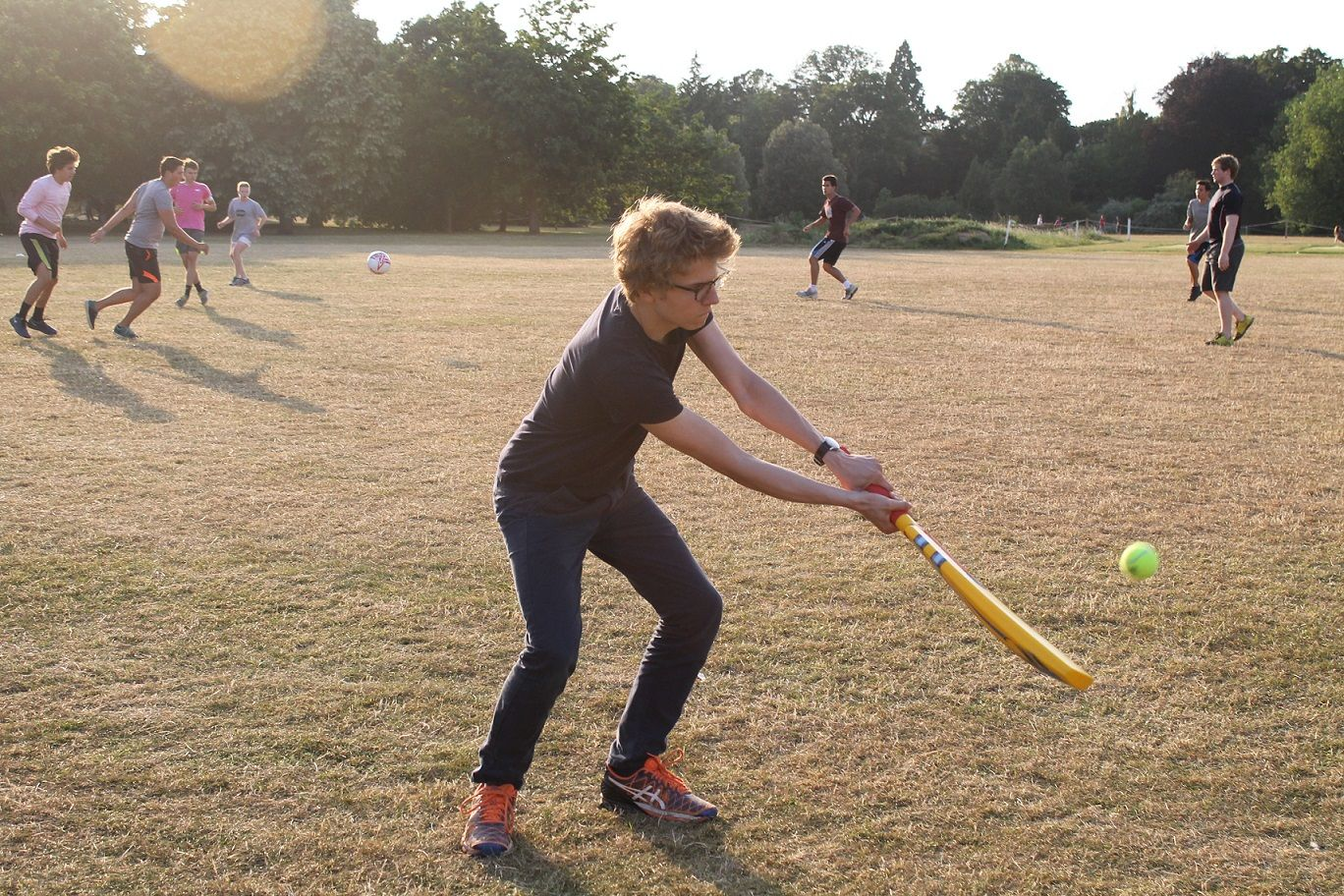 Student enjoying sports at our Summer School in Oxford