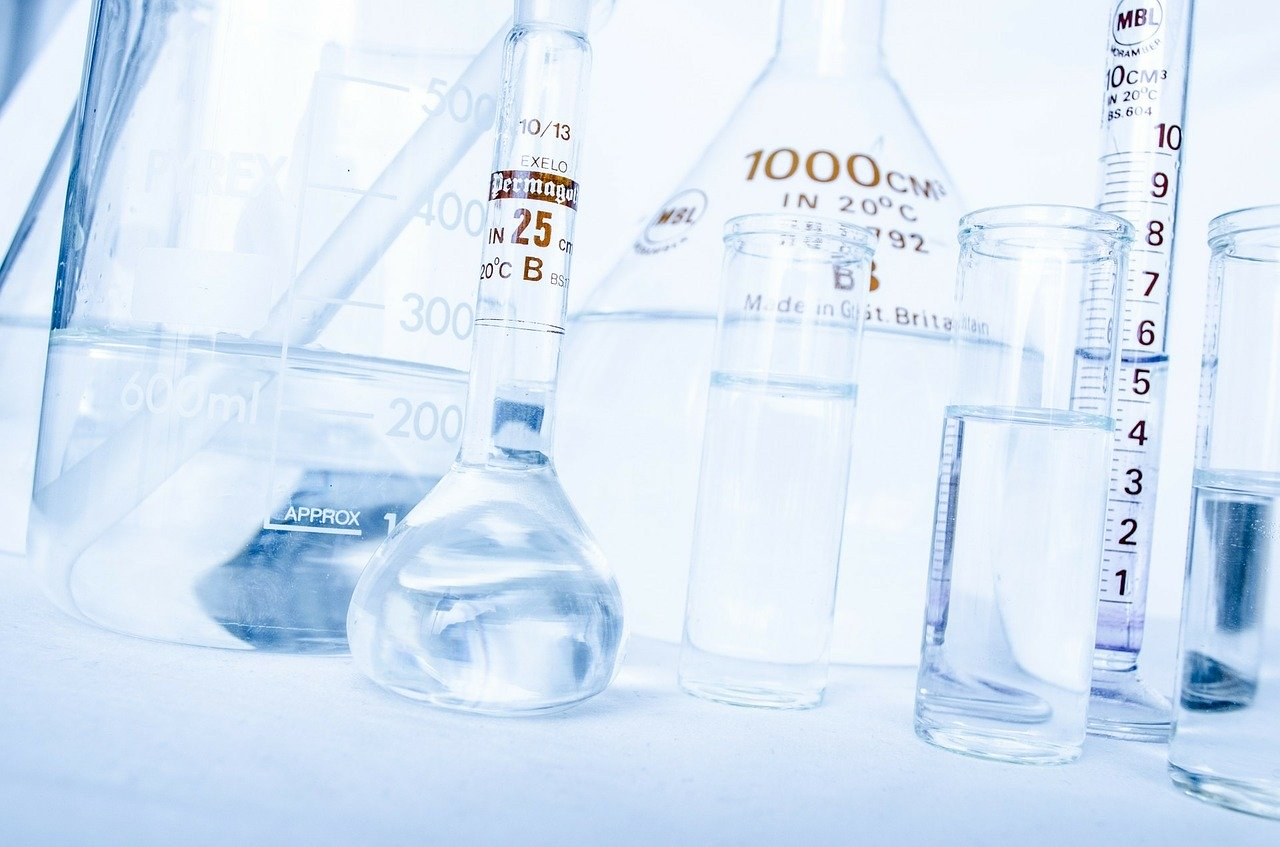 Simple chemistry glassware selection
