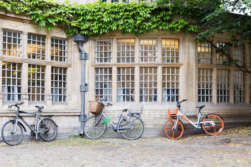 Cycling in the historic university city of Cambridge