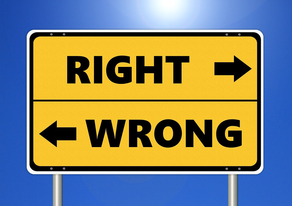 Go right for right or left for wrong