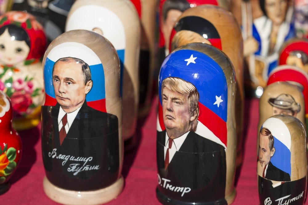 Donald Trump and Vladamir Putin Russian Dolls.