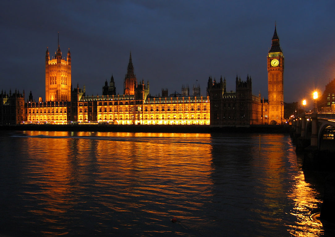 The Houses of Parliament in London, quite near Oxford